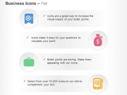 Investment Safety Dollar Bag Suitcase Mobile Ppt Icons Graphics