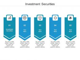 Investment Securities Ppt Powerpoint Presentation Slides Summary Cpb