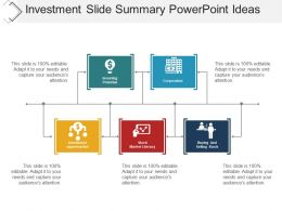 Investment Slide Summary Powerpoint Ideas