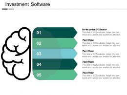 Investment Software Ppt Powerpoint Presentation File Graphics Cpb