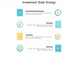 Investment Solar Energy Ppt Powerpoint Presentation Infographic Template Slides Cpb