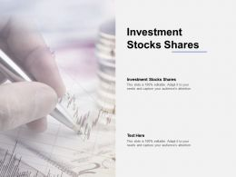 Investment Stocks Shares Ppt Powerpoint Presentation Icon Themes Cpb