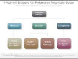 Investment Strategies And Performance Presentation Design