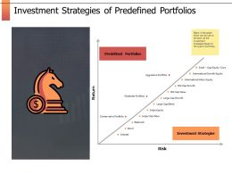 Investment Strategies Of Predefined Portfolios Investment Strategies Ppt Slides