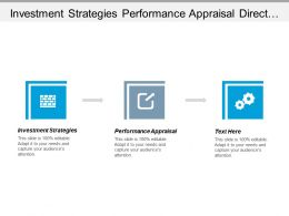 Investment Strategies Performance Appraisal Direct Marketing Appraisal Management Cpb