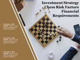 Investment Strategy Chess Risk Factors Financial Requirements