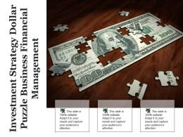 Investment Strategy Dollar Puzzle Business Financial Management