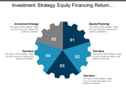 Investment Strategy Equity Financing Return Investment Portfolio Management Cpb