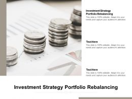 Investment Strategy Portfolio Rebalancing Ppt Powerpoint Presentation Slides Summary Cpb