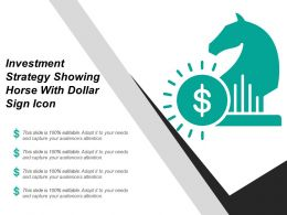 Investment Strategy Showing Horse With Dollar Sign Icon