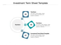 Investment Term Sheet Template Ppt Powerpoint Presentation Ideas Mockup Cpb