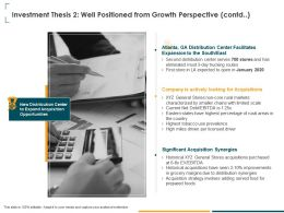 Investment Thesis 2 Well Positioned From Growth Perspective Contd Rural Ppt Powerpoint Presentation Slides