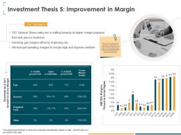 Investment Thesis 5 Improvement In Margin High Ppt Powerpoint Presentation Model Graphics