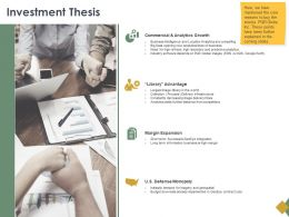 Investment Thesis Analytics Ppt Powerpoint Presentation Inspiration
