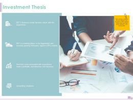 Investment Thesis Business Ppt Powerpoint Presentation Inspiration Designs