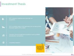Investment Thesis Ppt Powerpoint Presentation Professional Clipart