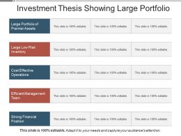 Investment Thesis Showing Large Portfolio