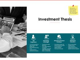 Investment Thesis Valuation Ppt Powerpoint Presentation Deck