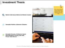 Investment Thesis Valuation Ppt Powerpoint Presentation Show Topics