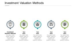 Investment Valuation Methods Ppt Powerpoint Presentation Icon Background Image Cpb
