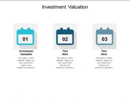 Investment Valuation Ppt Powerpoint Presentation Layouts Gallery Cpb