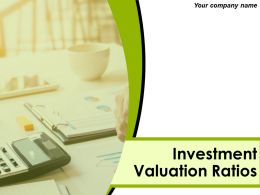 Investment Valuation Ratios Powerpoint Presentation Slides