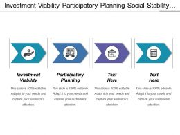 Investment Viability Participatory Planning Social Stability Environmental Sustainability