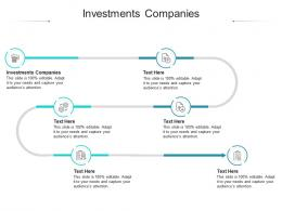Investments Companies Ppt Powerpoint Presentation Summary Design Ideas Cpb