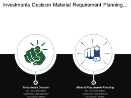 Investments Decision Material Requirement Planning Develop New Products