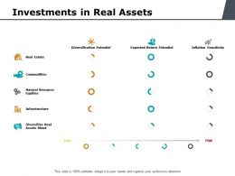 Investments In Real Assets Ppt Powerpoint Presentation Rules