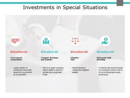 Investments In Special Situations Compare Ppt Powerpoint Presentation Infographics