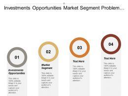 Investments Opportunities Market Segment Problem Solving Skills Sales Techniques