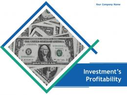 Investments Profitability Powerpoint Presentation Slides