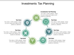 Investments Tax Planning Ppt Powerpoint Presentation Styles Elements Cpb