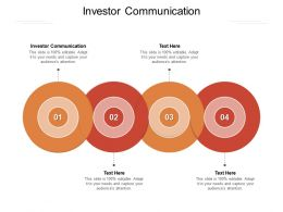 Investor Communication Ppt Powerpoint Presentation Professional Gridlines Cpb