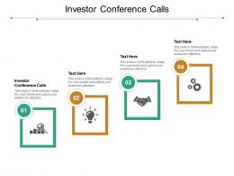 Investor Conference Calls Ppt Powerpoint Presentation Model Design Ideas Cpb