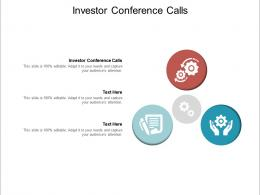 Investor Conference Calls Ppt Powerpoint Presentation Professional Summary Cpb