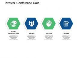 Investor Conference Calls Ppt Powerpoint Presentation Show Sample Cpb