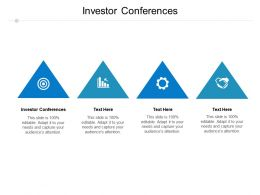 Investor Conferences Ppt Powerpoint Presentation File Designs Download Cpb