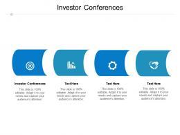 Investor Conferences Ppt Powerpoint Presentation Portfolio Microsoft Cpb