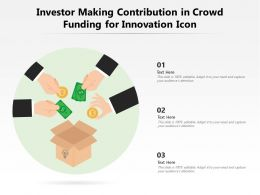 Investor Making Contribution In Crowd Funding For Innovation Icon