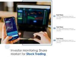 Investor Monitoring Share Market For Stock Trading