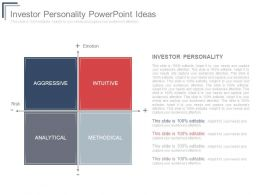 Investor Personality Powerpoint Ideas