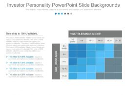 Investor Personality Powerpoint Slide Backgrounds