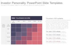 Investor Personality Powerpoint Slide Templates
