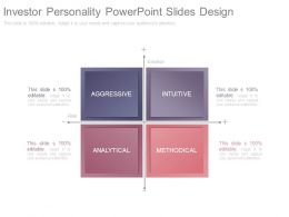 Investor Personality Powerpoint Slides Design