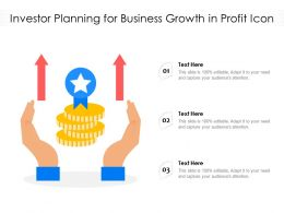 Investor Planning For Business Growth In Profit Icon