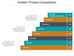 Investor Product Comparisons Ppt Powerpoint Presentation Outline File Formats Cpb