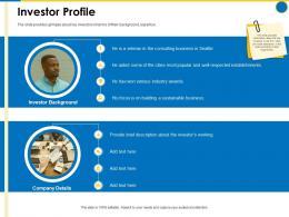 Investor Profile Business Manual Ppt Powerpoint Presentation Portfolio Slides