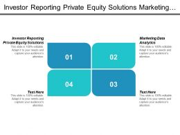 Investor Reporting Private Equity Solutions Marketing Data Analytics Cpb